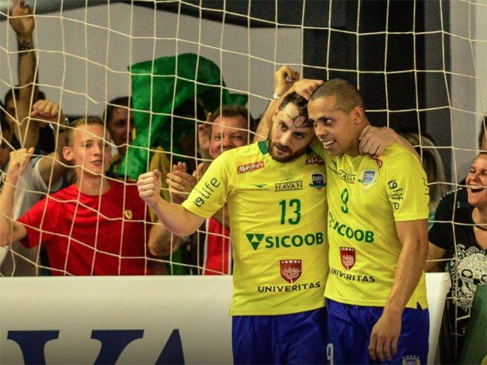 cabe7e7fe8 Lourenciano marca para Brasil em jogo contra o Paraguai